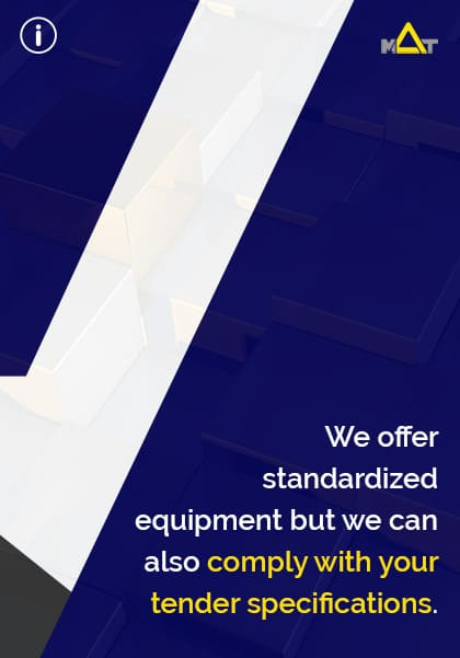Request a quote for industrial filtration equipment. We offer standardized equipment but we can also comply with your tender specifications.